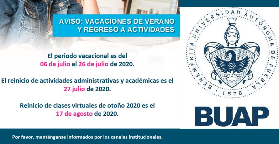 BUAP reiniciará ciclo escolar a mediados de agosto