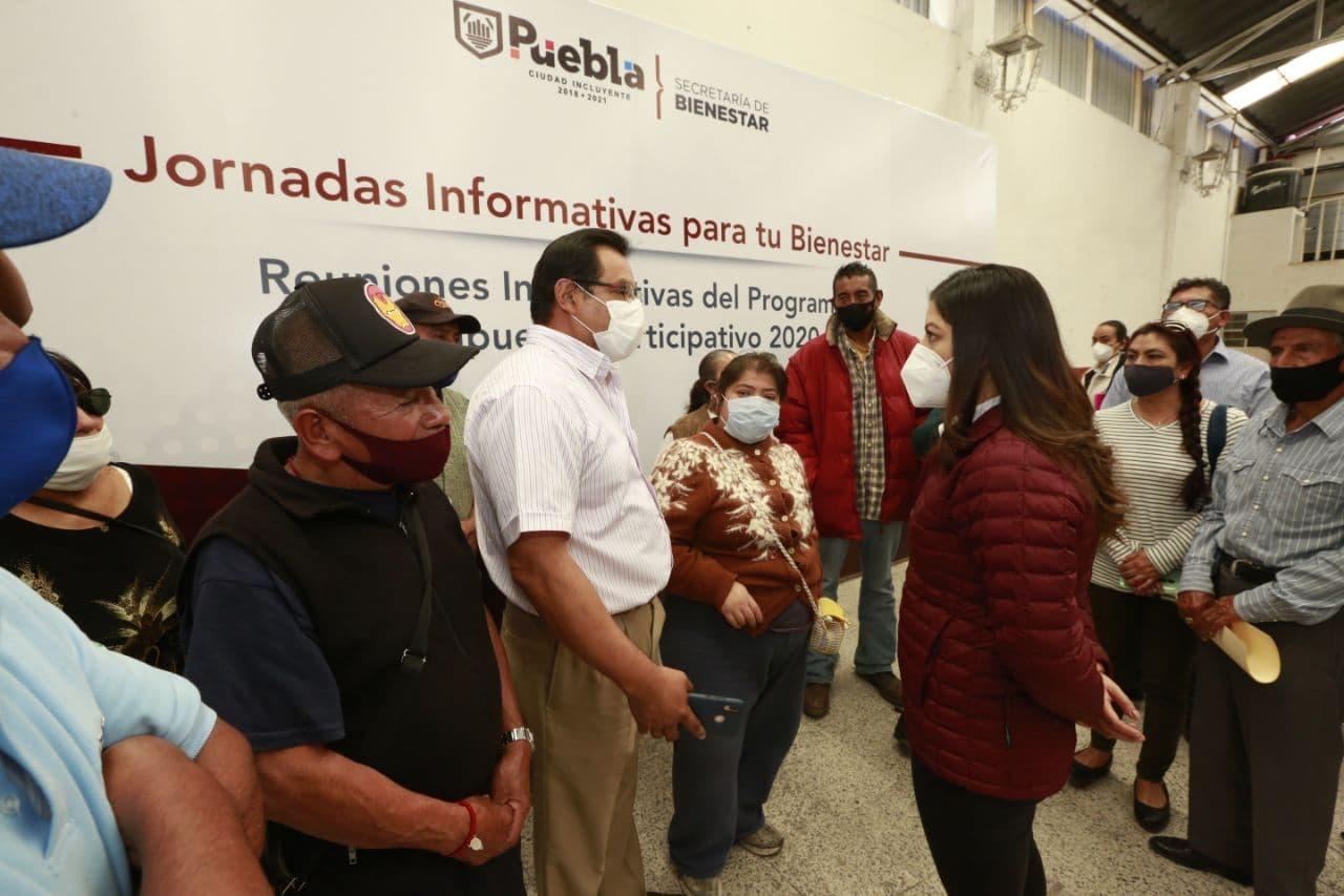 Definen ciudadanos y Claudia Rivera obras para juntas auxiliares