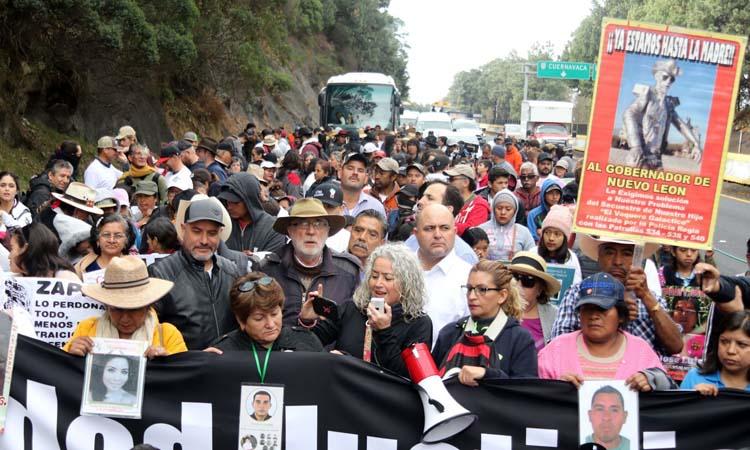 Llega a CDMX marcha por la Paz, encabezada por Sicilia y Lebarón