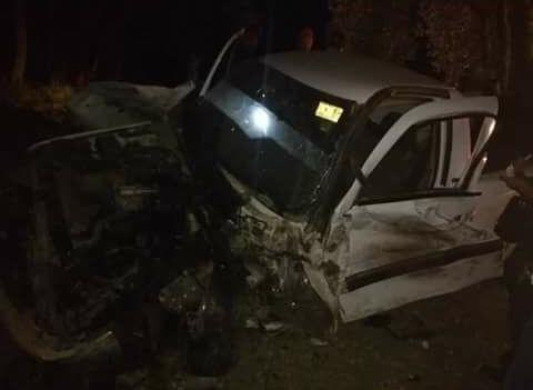 Desaparecen conductores de aparatoso accidente en Acajete