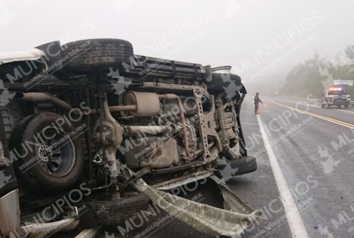 Resulta ileso ex presidente de Zacapoaxtla tras accidente