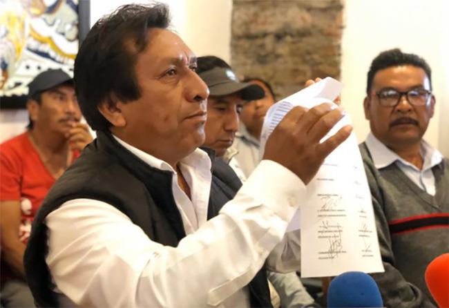 Vecinos de San Lorenzo Almecatla piden destitución de edil auxiliar