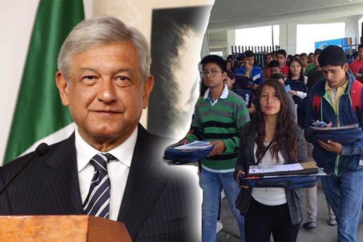AMLO anuncia aumento de saldo en becas para jóvenes