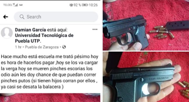 Suspenden clases por amenaza de tiroteo en Universidad Tecnológica de Puebla