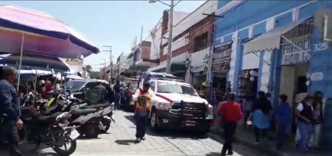 Fuga de gas en el centro de Atlixco genera alarma entre comerciantes