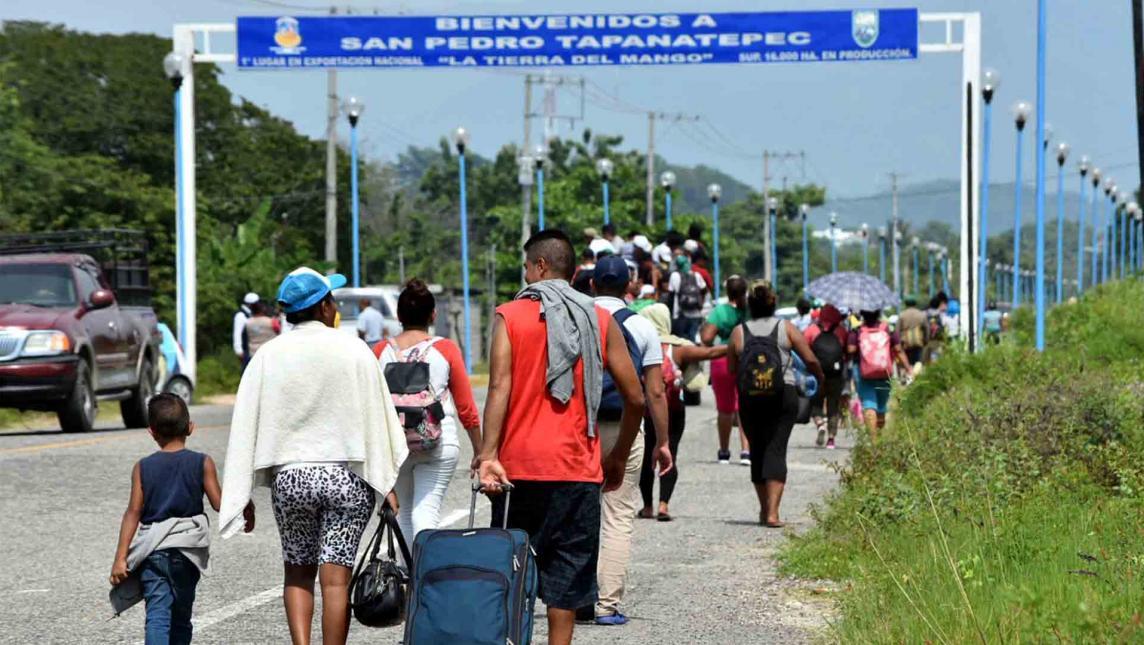 Migrantes mexicanos con miedo a que los manden a Guatemala