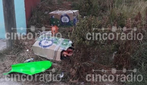 Vecino de la 3 de Mayo es desmembrado y colocado en cajas