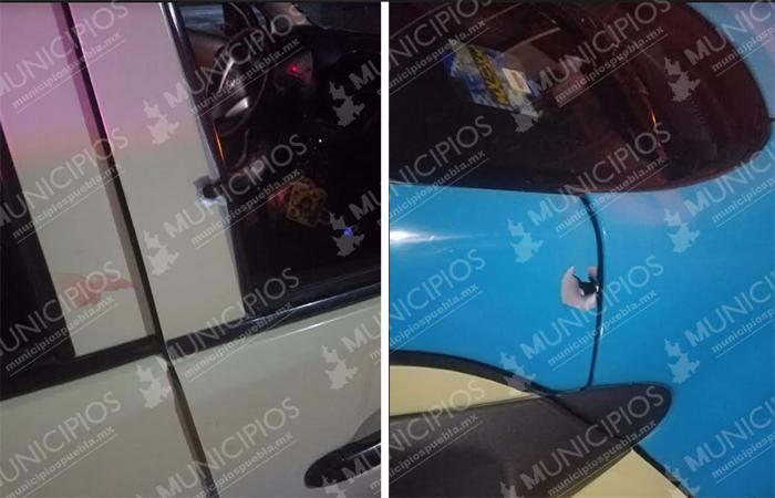Balean en la cabeza a mujer que viajaba en taxi en Atlixco