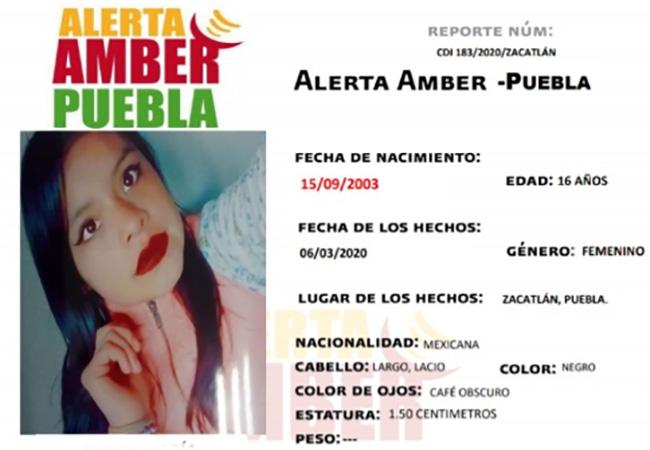 Desaparece Dulce María en Zacatlán y activan Alerta Amber