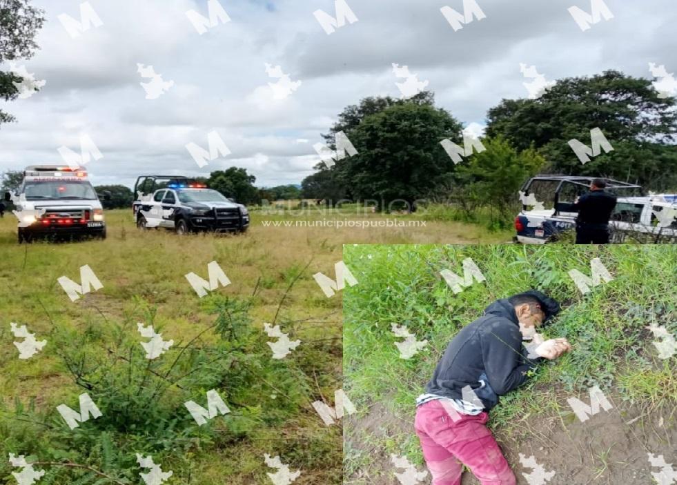 Con disparos de arma de fuego hallan cadáver en Tlahuapan