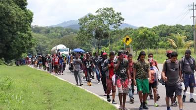 Los migrantes comenzaron su caravana nuevamente rumbo a CDMX