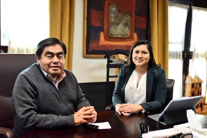 Se reúne Miguel Barbosa con Claudia Rivera por tema de seguridad