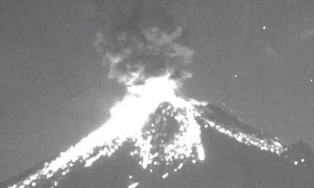 Explosión del Popo sorprende a poblanos en pleno 14 de febrero