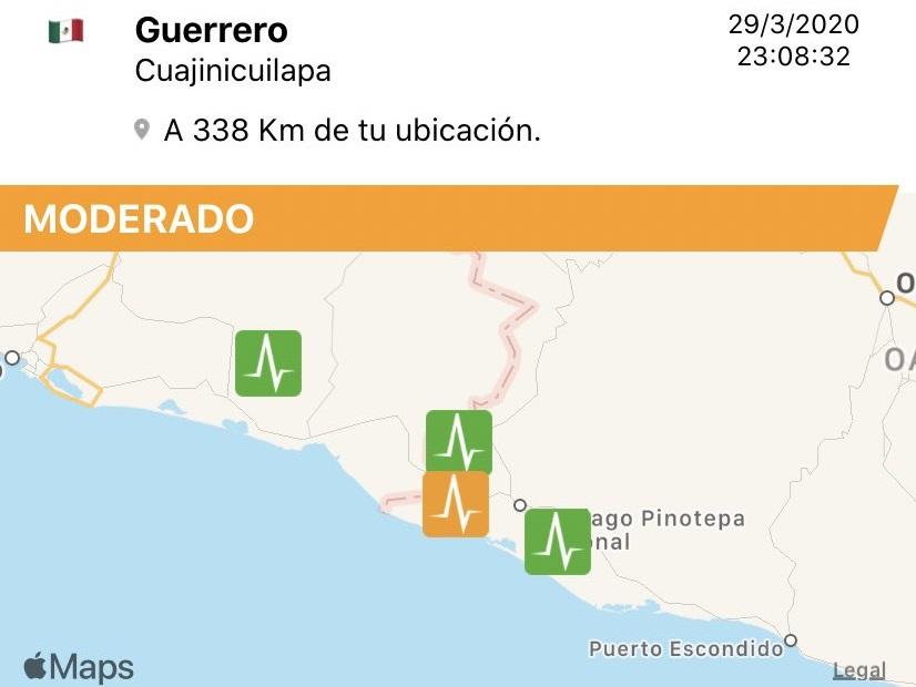 Tiembla en Guerrero y se percibe en Puebla