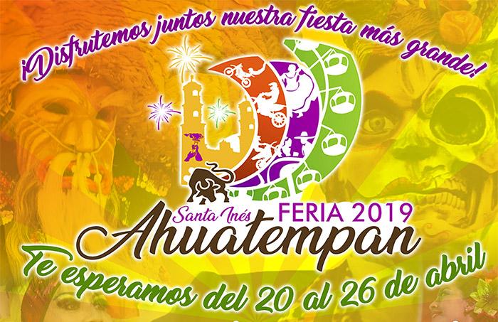 Pobladores se alistan para la Feria Ahuatempan 2019