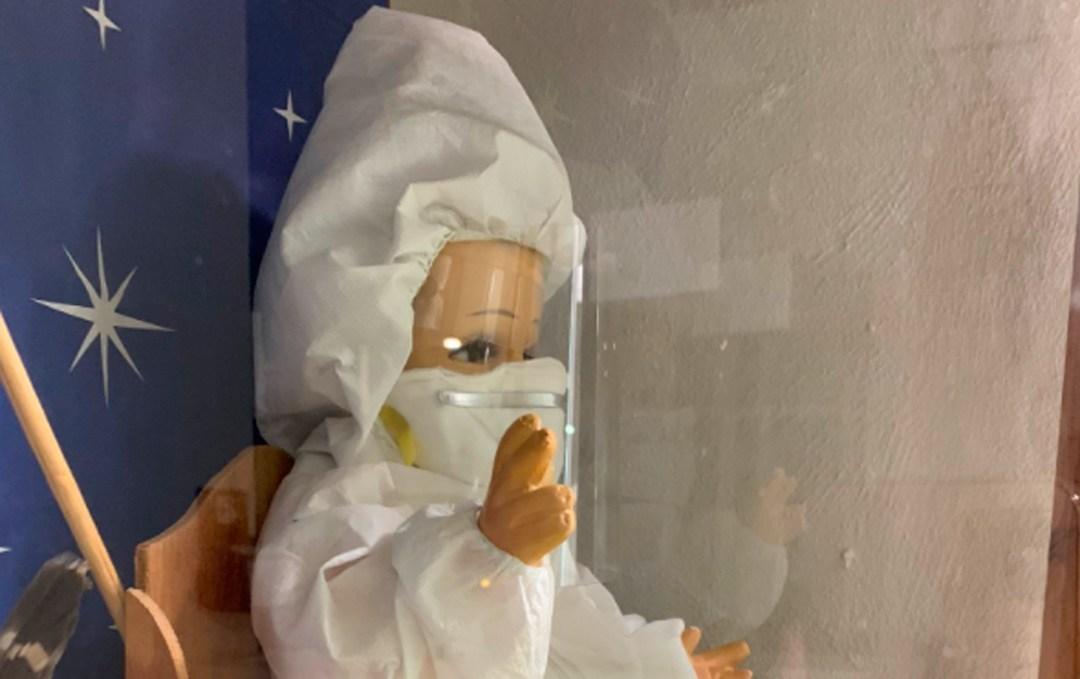 Visten a Niño Dios para difundir cuidados ante el Covid19