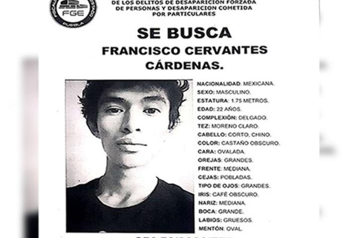 Francisco Cervantes despareció en la Jorge Murad