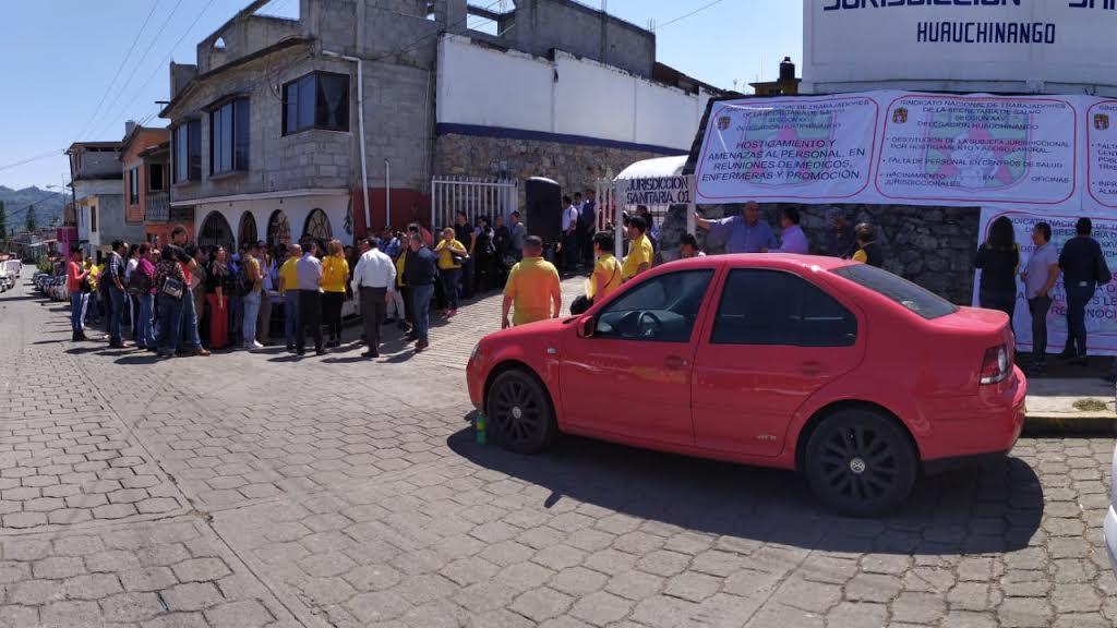 Paro administrativo en jurisdicción sanitaria de Huauchinango