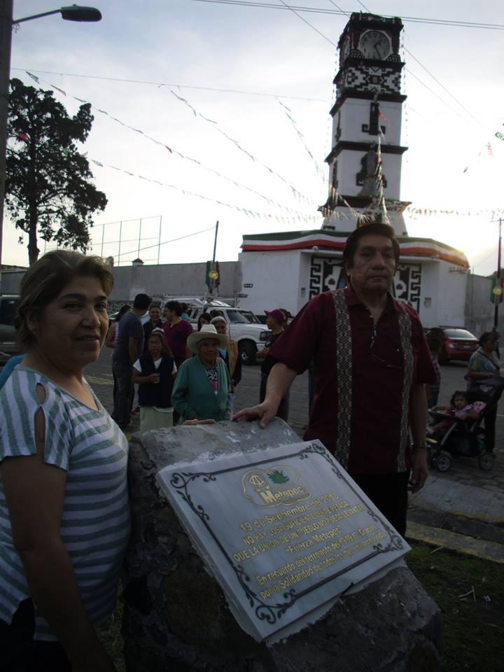 Placa recuerda solidaridad con Metepec tras el 19-S