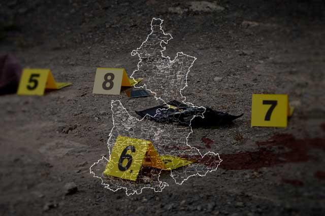 Bajan homicidios en Puebla, solo hubo 15 esta semana