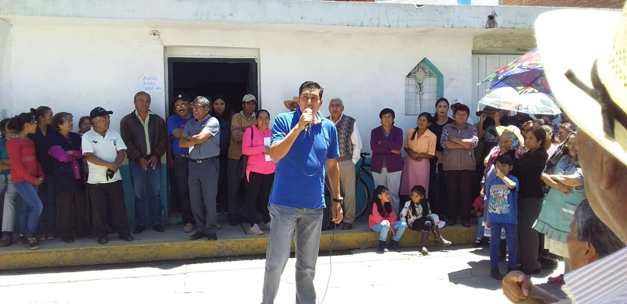 Rechazan injerencia de Layón en comités de agua de Texmelucan