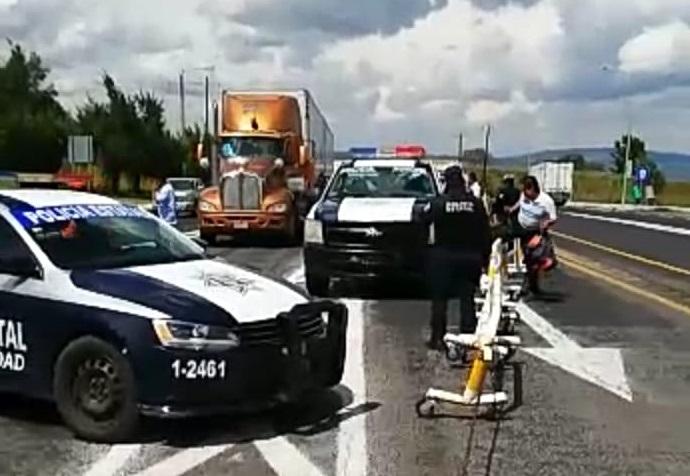 Tras persecución detienen a ladrón de camiones en Texmelucan