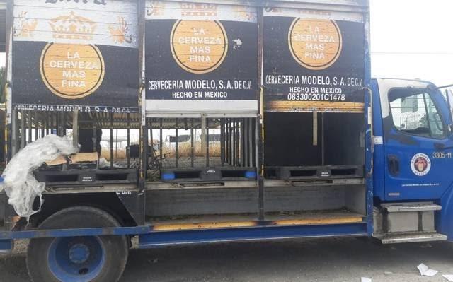 Roban 50 mil pesos en cervezas Corona a repartidores de Texmelucan