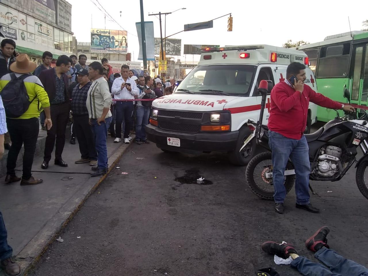 Arrollan y matan a checador de la ruta Los Altiplanos en Texmelucan