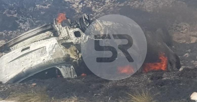 Se incendia vehículo en la Amozoc-Perote; chofer de línea Vía involucrado
