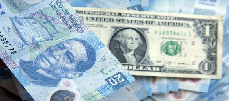 El peso mexicano se depreció frente al dólar por quinta jornada consecutiva