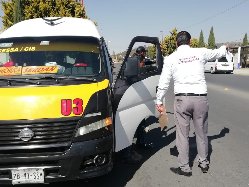 En Serdán 50% de operadores de transporte, sin licencia