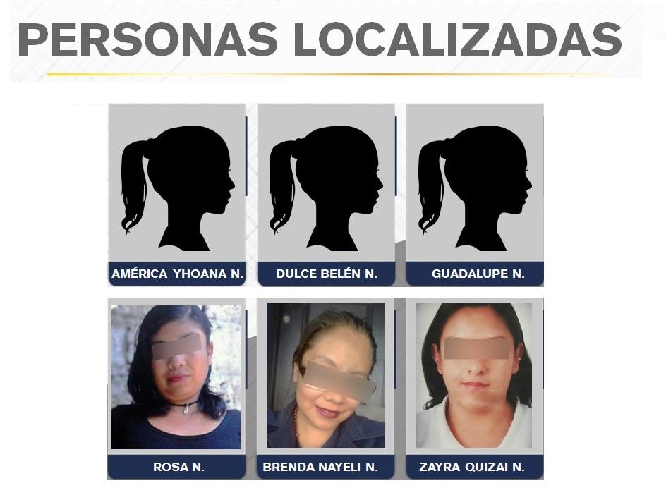 Localizan 6 mujeres desaparecidas durante diciembre en Puebla