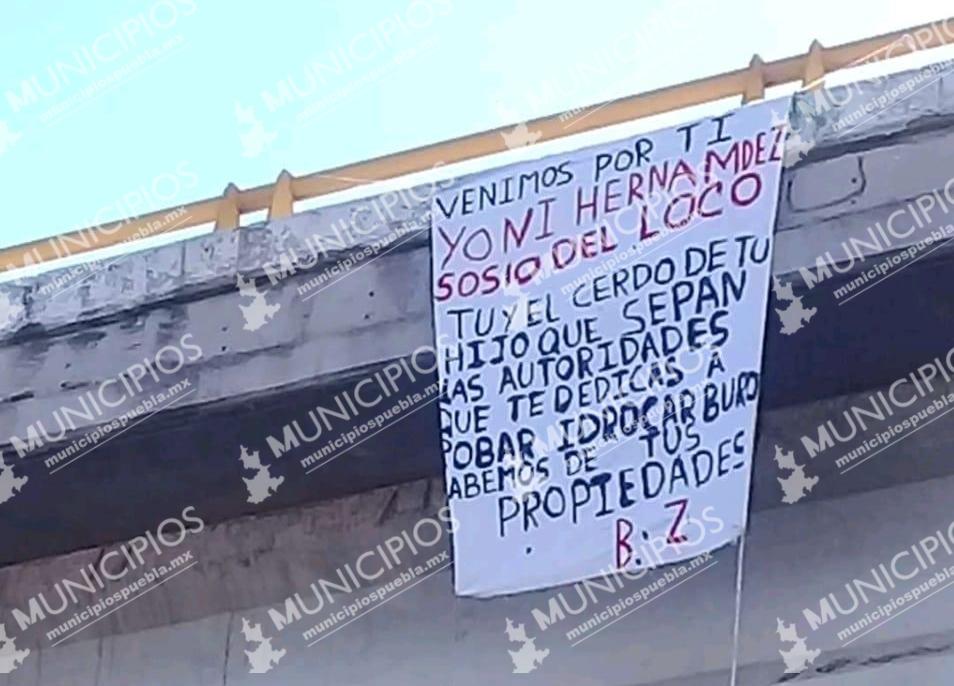 Venimos por ti Yoni Hernández; lo amenazan con manta en Texmelucan