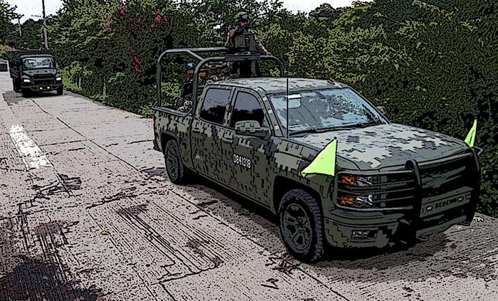 Narcos matan a militar con armas calibre 50 en Bacalar