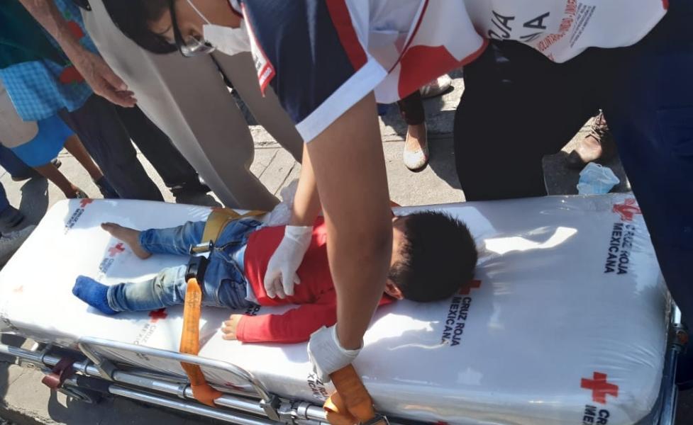 Motociclista atropella a niño de 2 años en Altixco