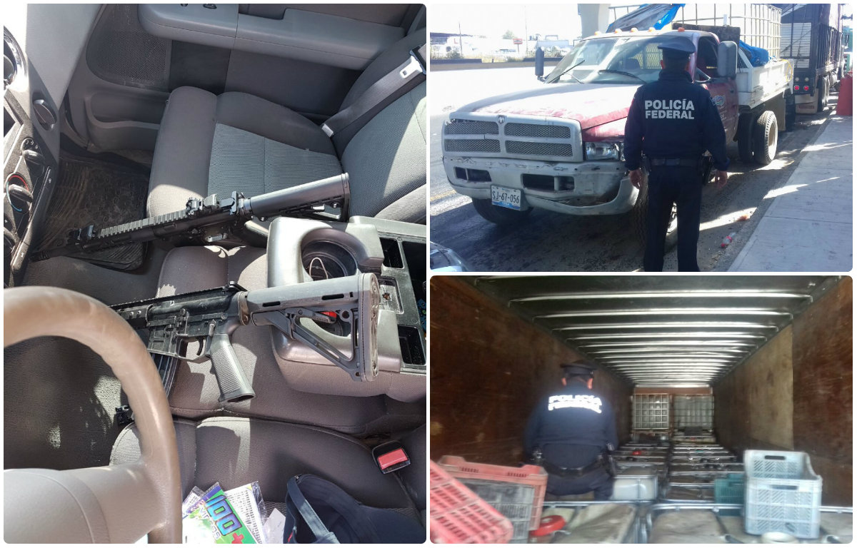 Hallan armas camiones y huachicol en predio de texmelucan for Interior y policia consulta de arma