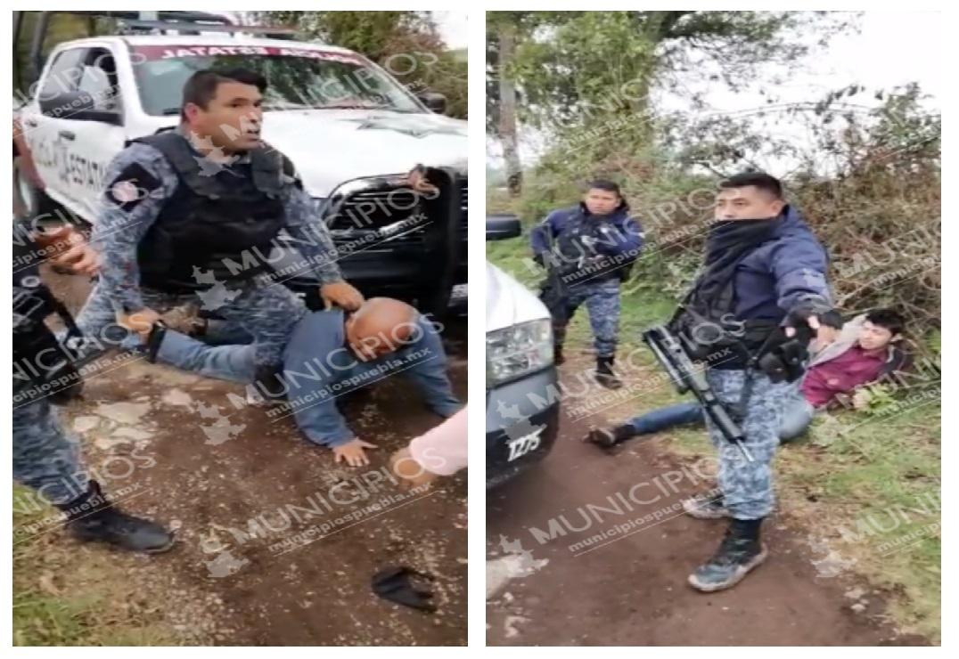 VIDEO Policías de Huauchinango golpearon a civiles y dispararon al aire