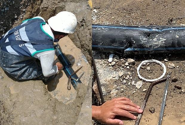 Rompen tubería por obras y dejan sin agua a Lomas de Angelópolis