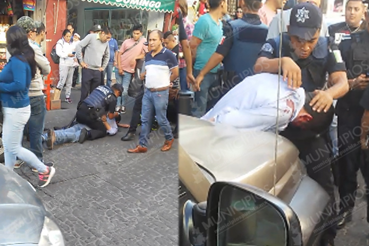 Comerciantes casi lincha a presunto asaltante del Centro Histórico