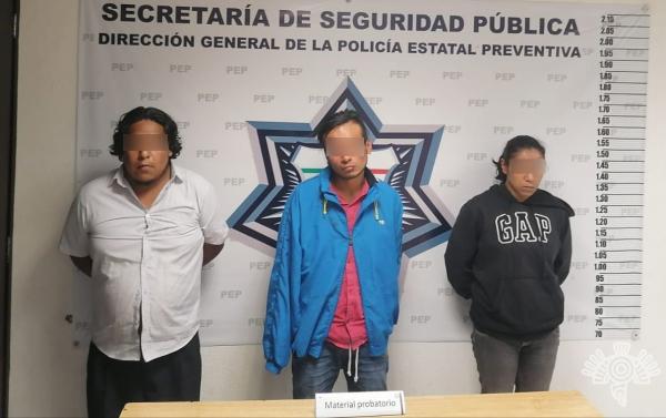 Detienen a banda cuando asaltaban ruta del transporte en Puebla