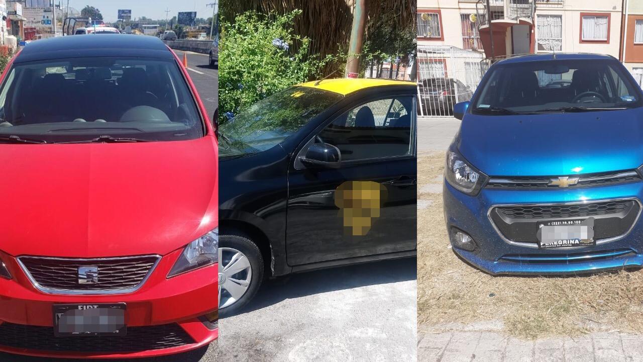 Recuperan vehículos robados en Atlixco, Cholula y Coronango