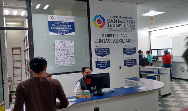 Abren oficinas del registro civil en 9 de 11 juntas for Oficina registro