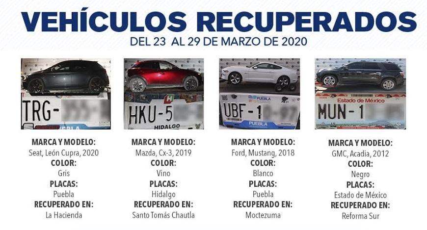 Recuperan siete vehículos con reporte de robo