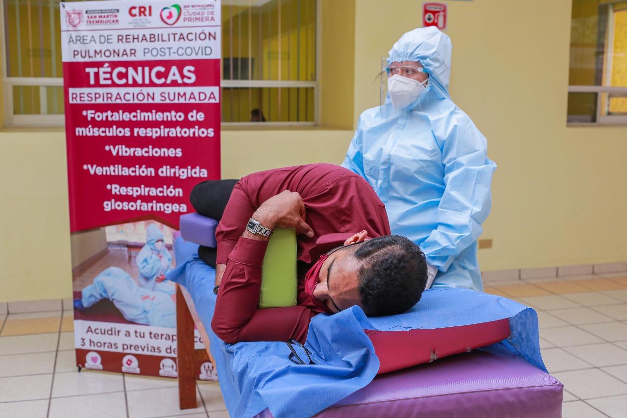 Texmelucan, primero en Puebla con área de rehabilitación post Covid