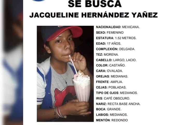 Jacqueline de 17 años desapareció en Puebla
