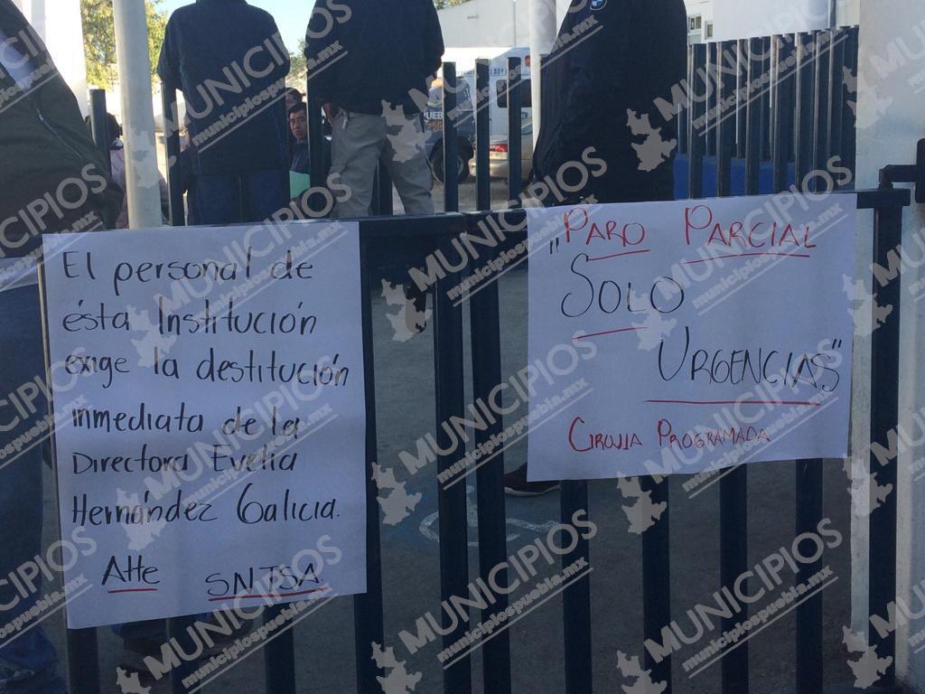Paros parciales en hospitales de Serdán y Acatlán