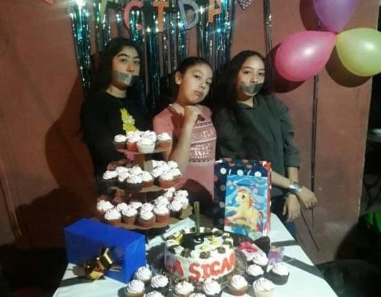 Adolescente Sicaria festeja cumpleaños con invitados amagados