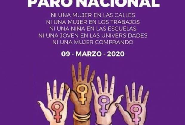 Convocan a paro nacional; un día sin mujeres el próximo 9 de marzo