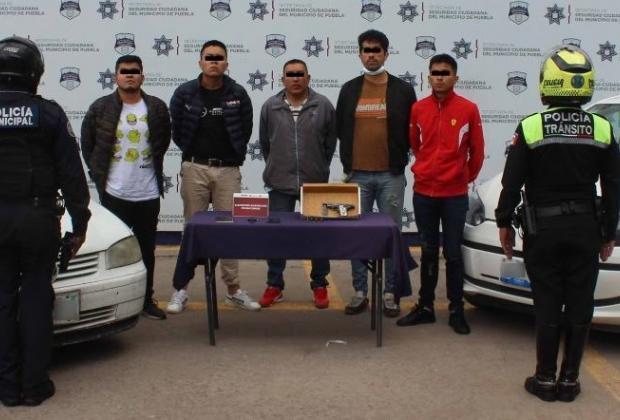 Desarticulan banda de robo a transeúntes en la capital poblana