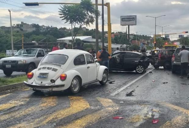 Carambola en Atlixco deja 9 lesionados incluidos niños